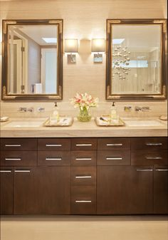 custom vanity with a place for everything