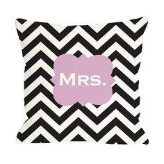 Mrs. Chevron Pillow