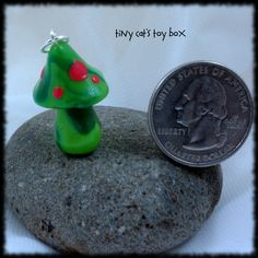 Toadstool  Mushroom charm    http://www.etsy.com/listing/92430065/fairy-toadstool-charm-pendant-ornament?ref=v1_other_2