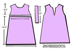 patron vestidos talla 2