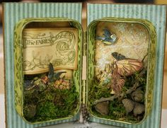 .http://art-from-the-heart.typepad.com/.  Inspiration for beach fairy box.