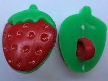 3 KINDERKNÖPFE rot grün 16mm x 13mm (2957) Knöpfe