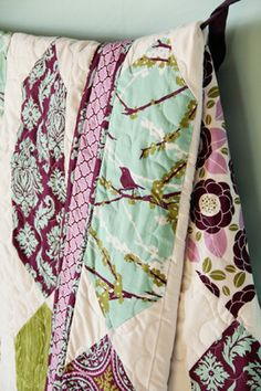I would LOVE to make this quilt! Fabric from Joel Dewberry's Aviary 2 collection!! I am in love with these colors!