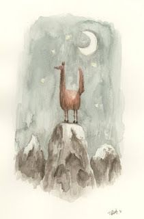 Tim Probert: Llama on a Mountain