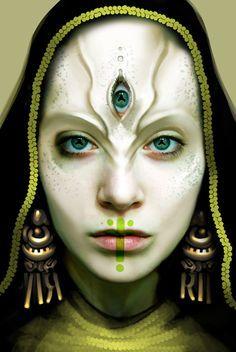 Ideas For Eye Dark Art Halloween Makeup Fantasy Makeup, Fantasy Art, Makeup Inspiration, Character Inspiration, Alien Make-up, Makeup Fx, Alien Concept, Maquillage Halloween, Facepaint Halloween