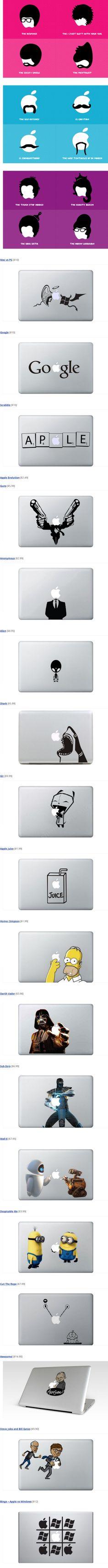 Des stickers en pagaille pour MacBook > Creanum
