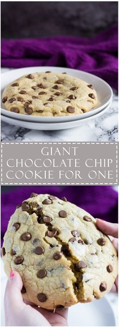 This giant chocolate chip cookie is thick chewy and perfect for when you don't want to bake up a whole batch!