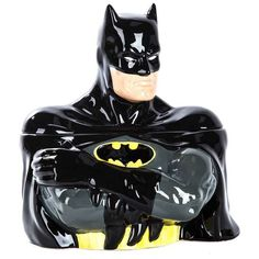 Craving some delicious baked goods? Just send up the bat signal! This fun Ceramic Batman Cookie Jar is the perfect place to store your favorite cookies, scones, and snacks. Featuring the infamous Batm