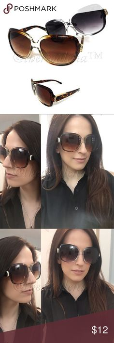 Gradient Color Frame Oval Sunglasses Gradient Color Frame Oval Sunglasses, UV 400 Protection, Lead & Nickel Compliant.  Colors come in both brown and black frames TheresaLena Boutique Accessories Sunglasses