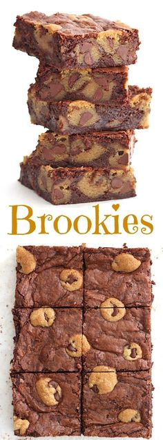 Chewy chocolate chip cookies baked right into fudgy brownies, because why choose one when you can have both?!