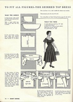 DIY Vintage 1950s Dress - FREE Sewing Pattern (2pgs, scroll forward in photo stream for 2nd page)