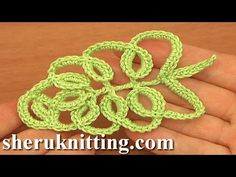 How To Crochet Tall Stitch Leaf Tutorial 33 Part 1 of 2 - YouTube