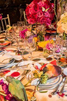 Photo Tour: Lenox Hill Gala 'A Spring Affair' Table Setting Design, Table Setting Inspiration, Lenox Hill, Beautiful Table Settings, Centerpieces, Table Decorations, Place Settings, Tablescapes, Beautiful Homes