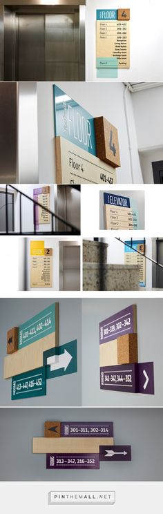 StayAt – Wayfinding & Branded Environment on Behance... - a grouped images picture - Pin Them All
