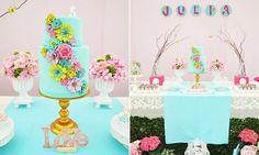 Borboletas, flores e fadas: a combinação que agrada a maioria das meninas compõe a decoração romântica desse aniversário, com elementos rústicos e naturais.