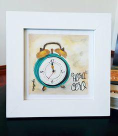 Reloj / acuarela / gouache / watercolor