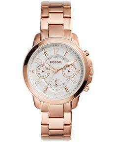 Too wide. Fossil Women's Chronograph Gwynn Rose Gold-Tone Stainless Steel Bracelet Watch 38mm ES4035