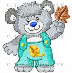 Free Embroidery Design: Bear