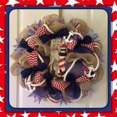 Hey, I found this really awesome Etsy listing at https://www.etsy.com/listing/193462212/beach-wreath-nautical-wreath-deco-mesh