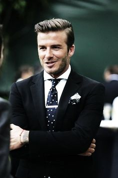 David Beckham, always stylish and is now an icon of the British style. theperfectgentleman.tv