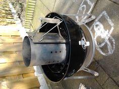 beer can chicken 17-2-2013  opstarten van de smoker