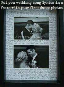Wedding song frame