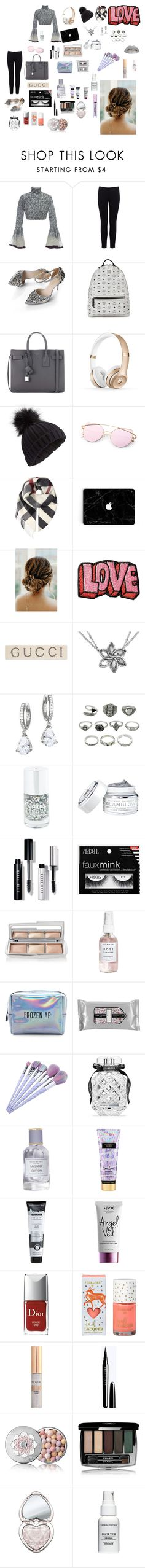 """Bez naslova #11"" by hidi-i ❤ liked on Polyvore featuring Hussein Bazaza, Warehouse, MCM, Yves Saint Laurent, Miss Selfridge, Burberry, Stoney Clover Lane, Gucci, Kate Spade and Bobbi Brown Cosmetics"