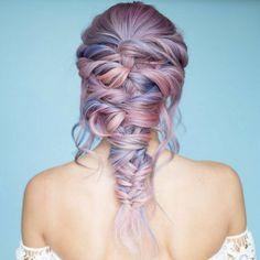 Were you looking for #BraidGoals? Because we found them. Whimsical style from @hairbymandielynn! #HairInspo #HairGoals #Braids #ColorfulBraids #PurpleHair #PastelPurple #PurpleHairDontCare #PastelHair #MermaidHair #Fairytale #WavyHair
