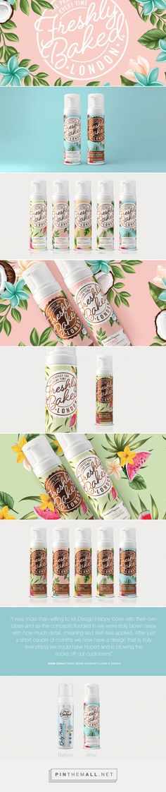 Freshly Baked London Self Tanning Foam Packaging by Design Happy | Fivestar Branding Agency – Design and Branding Agency & Curated Inspiration Gallery