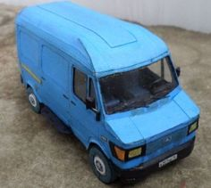 Mercedes-Benz TN 210 D Van Paper Model Free Template Download - http://www.papercraftsquare.com/mercedes-benz-tn-210-d-van-paper-model-free-template-download.html#132, #210D, #MercedesBenz, #MercedesBenzTN, #Van