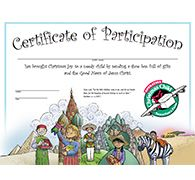 Certificate and other print materials for OCC
