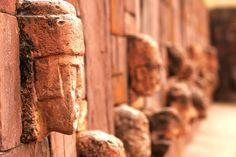 Monoliths Tiwanaku temple, Bolivia