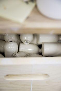 Honeycomb Studio handmade small batch ceramics in Atlanta, GA on Thou Swell Cream And Gold, Honeycomb, Atlanta, Ceramics, Studio, Tableware, Handmade, Collection, Ceramica
