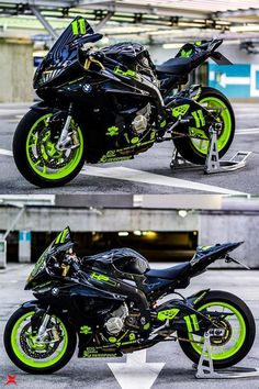 BMW in custom black- fluorescent green colour - ModifiedX Bmw S1000rr, Bmw R1200gs, Moto Bike, Motorcycle Bike, Ford Gt, Bmw R51, Audi Tt, Triumph Bonneville, Bike Photoshoot