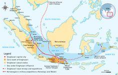 Singhasari (Singasari), founded by Ken Arok - a Javanese Hindu-Buddhist kingdom located in east Java between 1222 & 1292 (today part of Indonesia). The kingdom succeeded the Kingdom of Kediri as the dominant kingdom in eastern Java.