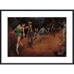 David Garibaldi 'Bounce, Rock, Skate!' Framed Art ( / Mat)