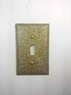 Cute Sparkly Metallic Gold Glitter Decorative Light Switch Plate Cover - Wall Lighting Décor - READY TO SHIP by VampedByVivian on Etsy