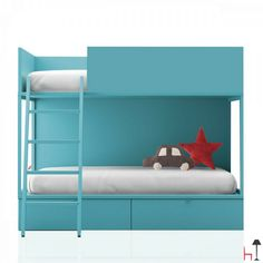 Modern and functional, the Vagon bunk bed by Lagrama perfectly suits any kind of home decor.