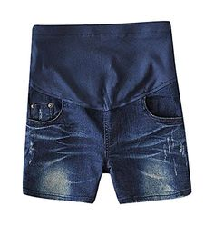 MTRNTY Womens Maternity Elastic Adjustable Waist Denim Shorts Dark Blue Jeans XLarge -- Details can be found by clicking on the image. (This is an affiliate link and I receive a commission for the sales) Maternity Shorts, Dark Blue Jeans, Bermuda Shorts, Denim Shorts, Image Link, Note, Amazon, Awesome, Check