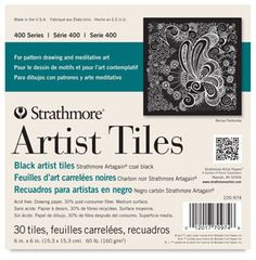 These new artist's tiles by Strathmore are perfect for Zentangle and give you ample room to create stunning designs. The tiles are available in a bristol vellum, black, and watercolor. Black Artists, New Artists, Series Black, Tile Wallpaper, Gel Ink Pens, Drawing Exercises, Christmas Cards To Make, Mandala Pattern, Pattern Drawing