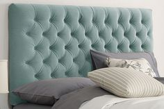 Found it at Wayfair - Skyline Furniture Tufted Upholstered Headboard King Size Upholstered Headboard, Navy Headboard, Cushion Headboard, Headboard Ideas, Make Your Own Headboard, Bedroom Accessories, Headboards For Beds, Fancy, Head Boards