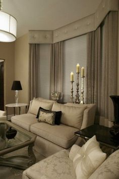New Living Room Windows Treatments Cornice Boards Ideas Bay Window Treatments, Window Treatments Living Room, Living Room Windows, New Living Room, Window Coverings, Living Room Decor, Window Cornices, Valances, Bay Window Curtains Living Room