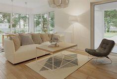 Projekt domu Berenika - murowana – ceramika 135,3 m2 - koszt budowy - EXTRADOM 4 Bedroom House Plans, Family House Plans, Dream House Plans, Modern House Plans, Garden Seating, Facade House, Architecture Design, House Design, Furniture