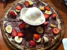 Chocolate Nutella wood oven pizza