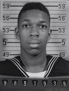 The official U.S. Naval Reserve photo of John Coltrane, the pioneering jazz saxophonist. Coltrane, who would later collaborate with Miles Davis and Thelonious Monk, was photographed in mid-1945 following his voluntary enlistment as an apprentice seamen. Coltrane was 18 at the time.