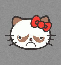 Grumpy Kitty. HA!