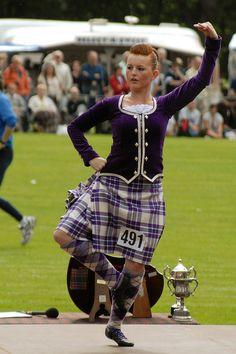 Kilt with purple jacket #macgregor #purple #tartan