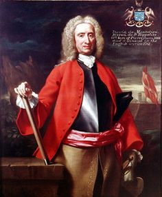 """David de Montlieu, Baron de St Hippolyte"" by an unknown English artist (1730) at the National Army Museum, London - From the curators' comments: ""David Montolieu was a French Huguenot refugee who took service with the British crown. Shown here wearing a cuirass and with his right hand on a baton, Montolieu had fought for King William III in Flanders and at the Battle of the Boyne in 1690."""