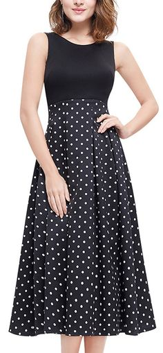 Polka dots? It never gets old; this is what you call classic! In Polyester fabric and black, it's very casual but yet chic!View more at www.floryday.com
