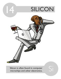 Ellen mchenry quick 6 periodic table game sci periodic table 14 silicon 112 cartoon elements make learning the periodic table fun urtaz Image collections